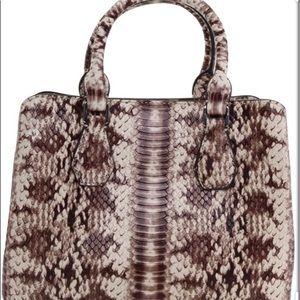 Michael Kors Camille snake print satchel